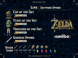 zelda card skyward sword back 2.0